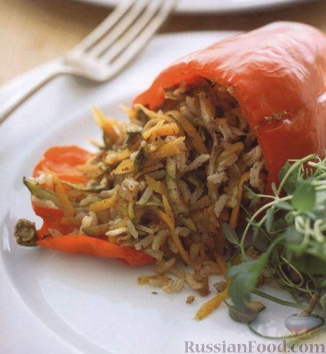 Рецепт Вегетарианский фаршированный перец