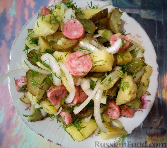 картофельный салат рецепты с фото с солеными огурцами