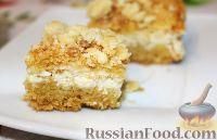 Фото к рецепту: Деревенский творожный пирог из песочной крошки