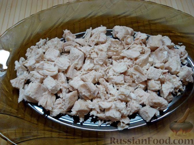 Салат курица под снегом рецепт пошагово в
