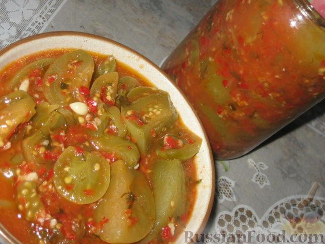 аджика из помидор на зиму рецепты с фото зелёные