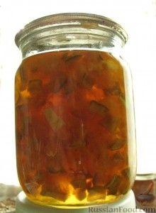 Рецепт Янтарное варенье. Кабачки + лимон