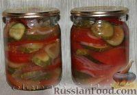 Фото к рецепту: Салат из овощей в собственном соке на зиму
