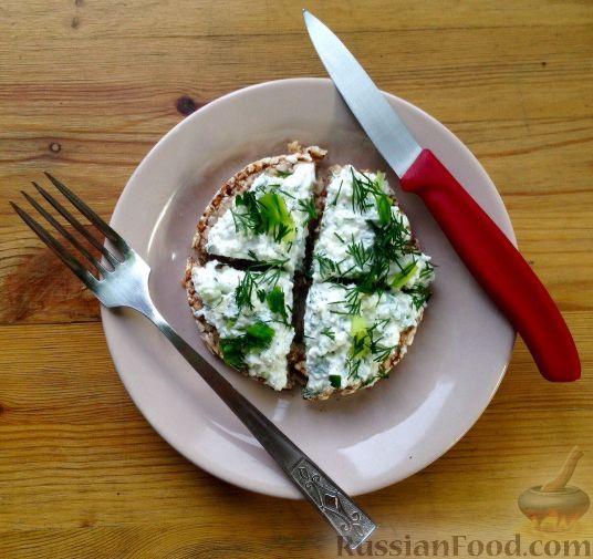творожная закуска с чесноком и зеленью