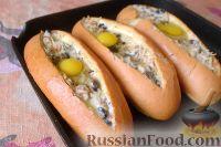 Фото приготовления рецепта: Горячие бутерброды «Лодочки» - шаг №10