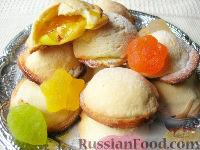 Фото к рецепту: Лепешки с яблоками и мармеладом