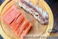 Фото приготовления рецепта: Роллы из блинчиков - шаг №4