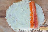 Фото приготовления рецепта: Роллы из блинчиков - шаг №8