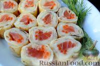 Фото приготовления рецепта: Роллы из блинчиков - шаг №12