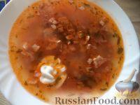 Солянка из говяжьих почек, свиных ребер и колбасных изделий - рецепт пошаговый с фото