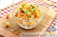 Фото к рецепту: Салат с яйцом и сухариками