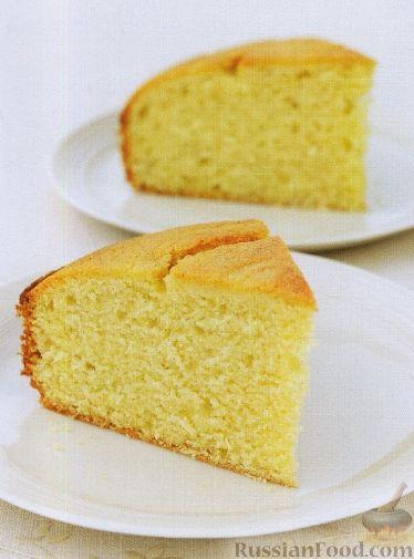 Лимонный пирог с молоком