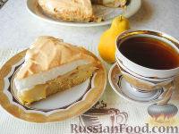 Фото к рецепту: Грушевый пирог с безе