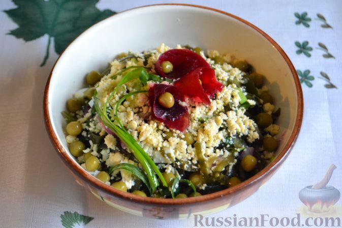 Морская капуста рис крабовые палочки салат рецепт