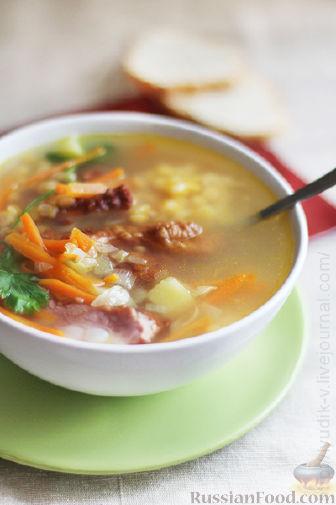 Рецепт Гороховый суп на копченых ребрышках