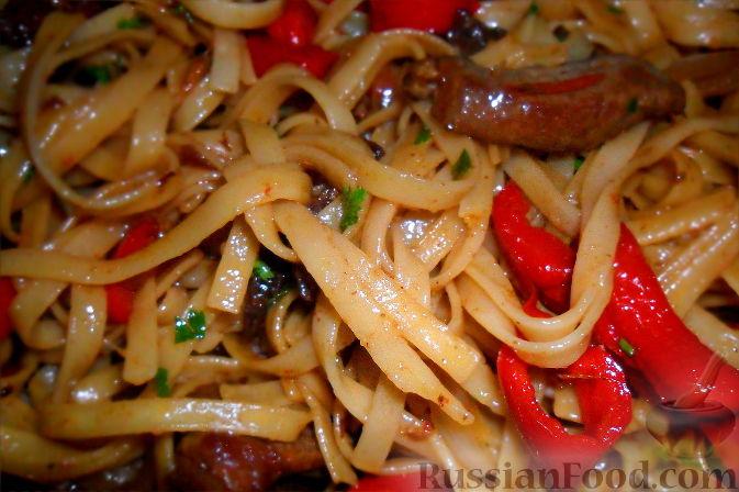 Говядина с лапшой по китайски