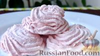 Фото к рецепту: Яблочно-клубничный зефир