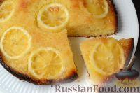 Фото к рецепту: Лимонный кекс-перевёртыш