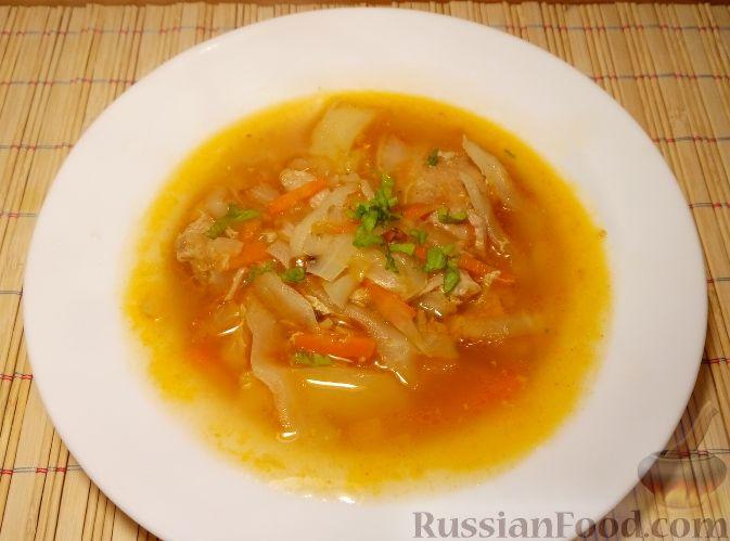Щи из свежей капусты и тушенки рецепт пошагово