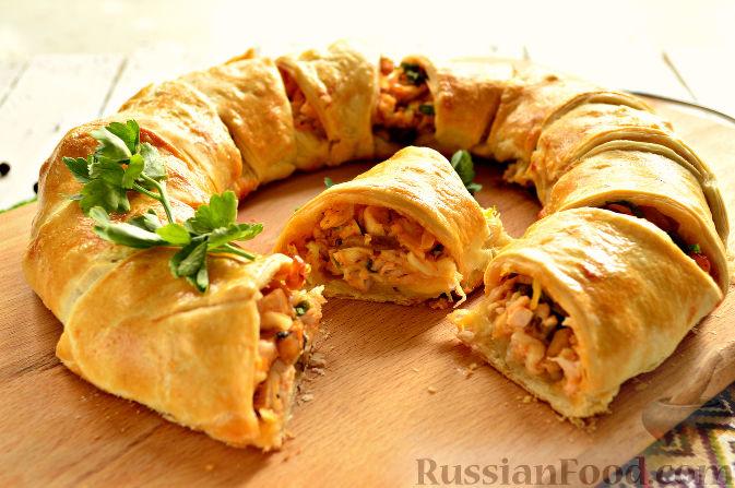 Слоеный пирог с курицей рецепт пошагово 84
