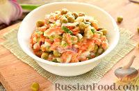 Фото к рецепту: Салат из моркови и зеленого горошка