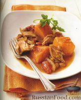 Фото к рецепту: Рагу из тыквы с индейкой
