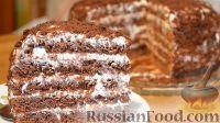 Фото приготовления рецепта: Бисквит «Шоколад на кипятке» со сметанным кремом - шаг №10