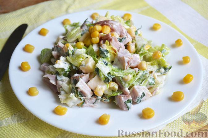 салат из копченого куриного окорочка рецепт с фото