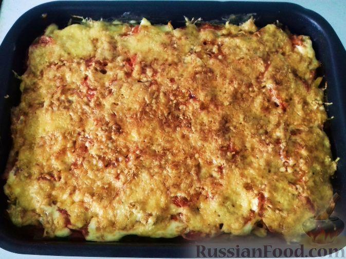 картошка с сыром и ветчиной в духовке