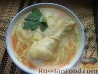 Суп с домашней лапшой и гусем - рецепт пошаговый с фото