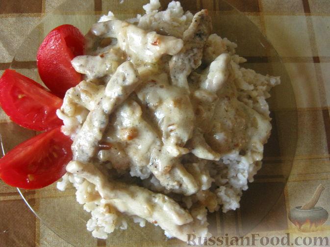 Рецепт Свинина а-ля бефстроганов в сметанном соусе