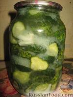 Фото к рецепту: Сырой салат из огурцов на зиму