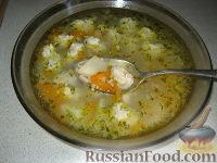 Фото к рецепту: Суп с куриными фрикадельками