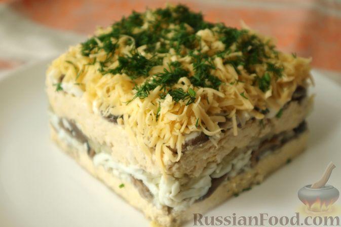 салат нежность рецепт слоями
