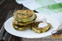 Фото к рецепту: Оладьи из кабачков, по-турецки