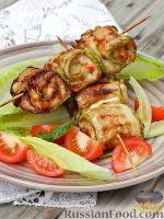 Фото к рецепту: Рулетики из кабачков с курицей (в аэрогриле)