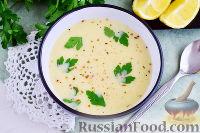 Фото к рецепту: Авголемоно (греческий куриный суп)