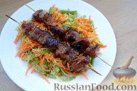 Фото к рецепту: Свинина в соусе терияки, с овощным салатом