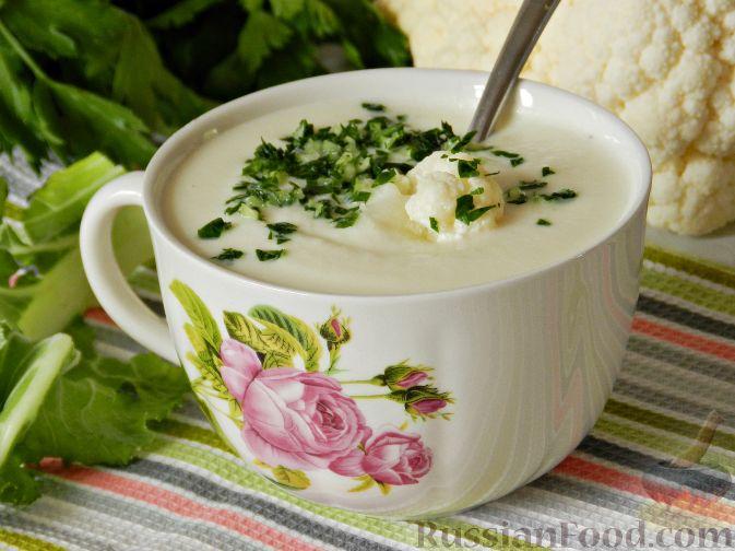Крем суп из цветной капусты без сливок рецепт 2