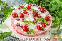 Фото к рецепту: Йогуртовый торт с черешней