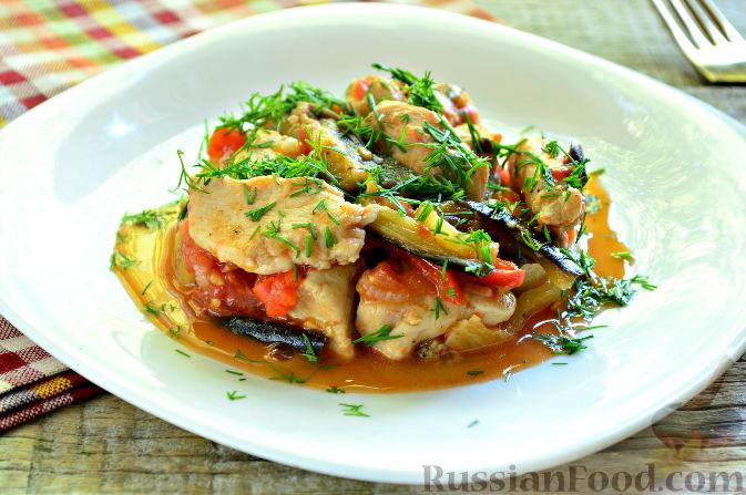 Курица, тушенная с овощами рецепт с фото пошаговый Едим 7