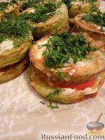 Фото к рецепту: Жареные кабачки с чесноком и майонезом