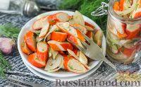 Фото к рецепту: Маринованные крабовые палочки
