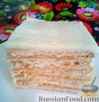 Фото к рецепту: Мини-торт из печенья и сметанного крема (без выпечки)
