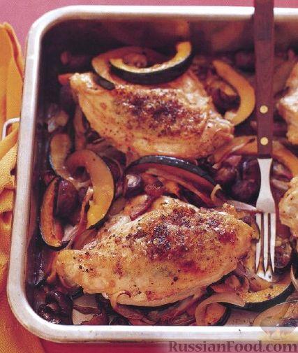 Рецепт Курица жареная с овощами