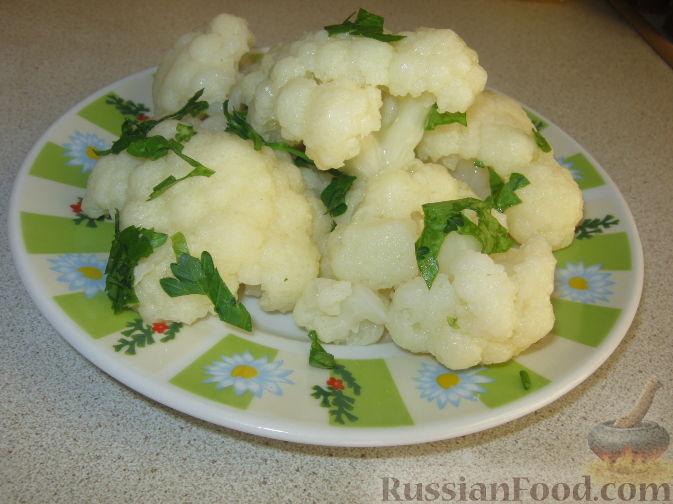 Рецепт Гарнир из цветной капусты