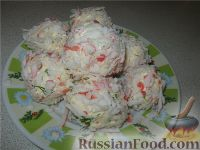 Фото к рецепту: Сырно-крабовое