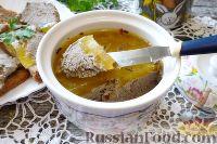 Фото к рецепту: Паштет из утиной печени, под апельсиновым желе