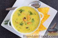 Фото к рецепту: Сырный суп с мидиями