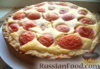 Фото к рецепту: Творожный пирог с абрикосами